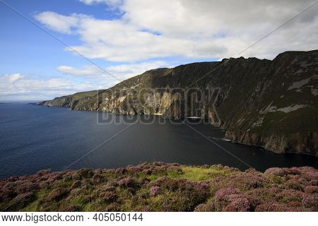 Donegal (ireland), - July 25, 2016: Slieve League Cliffs, Co. Donegal, Ireland
