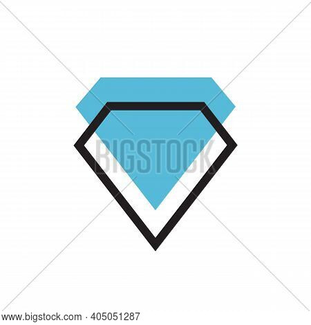 Abstract Diamond Gem Logo Icon Design, Jewelry Symbol Illustrationabstract Diamond Gem Logo Icon Des