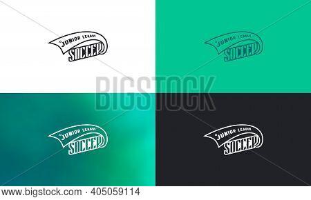 Emblem For Soccer Junior League. Color Variation