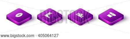 Set Isometric American Football Ball, Sport Boxing Shoes, Award Over Sports Winner Podium And T-shir