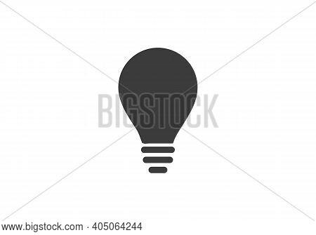 Light Bulb Icon Isolated On White Background. Light Bulb Icon In Trendy Design Style. Light Bulb Wit