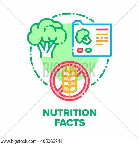 Nutrition Facts Vector Icon Concept. Fats And Diet Calories List For Fitness Healthy Dietary Supplem