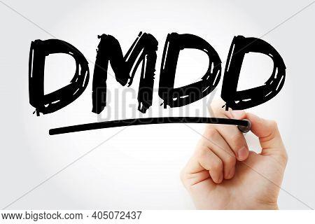 Dmdd - Disruptive Mood Dysregulation Disorder Acronym With Marker, Health Concept Background