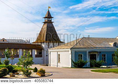 Astrakhan. Astrakhan Kremlin. Red Gate Of The Astrakhan Kremlin. View From The Inside Of The Histori