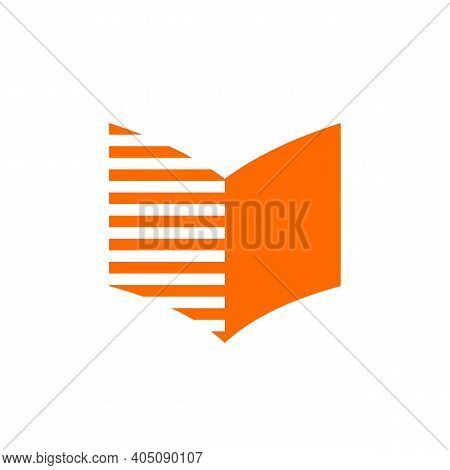 Abstact Book Logo Icon Design, Digital Learning Education Concept