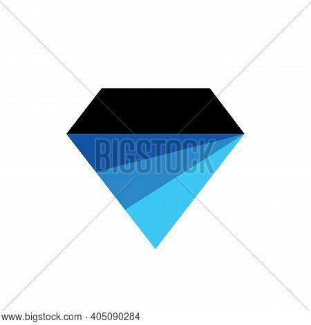 Blue Diamond Logo Icon Design Abstract Sapphire Symbol - Vector