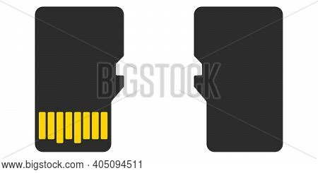 Silhouette Microsd Memory Card, Vector Memory Expansion Card Micro Sd Gadgets