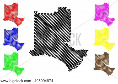 Los Alamos County, New Mexico (u.s. County, United States Of America, Usa, U.s., Us) Map Vector Illu