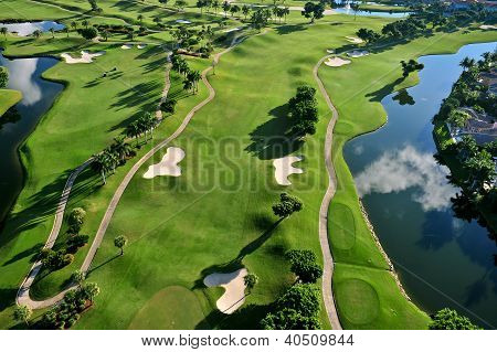 Aerial View Of Nice Golf Course