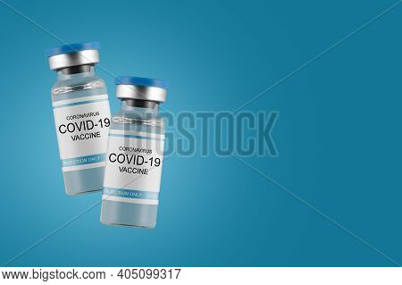 . The Fight Of Modern Medicine Against The Pandemic. Vaccination Of Humanity. Creative Design For Co