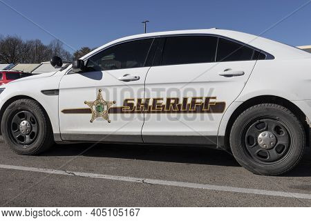 Noblesville - Circa January 2021: County Sheriff Vehicle In Indiana.