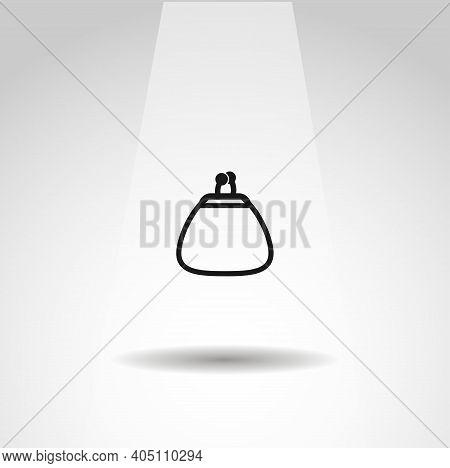 Woman Purse Vector Icon, Simple Purse Icon