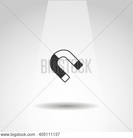 Magnet Vector Icon, Simple Magnet Isolated Icon