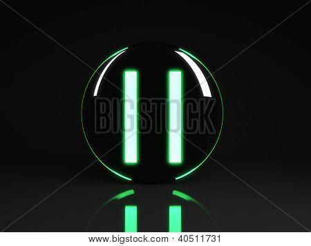 Pause Icon Button