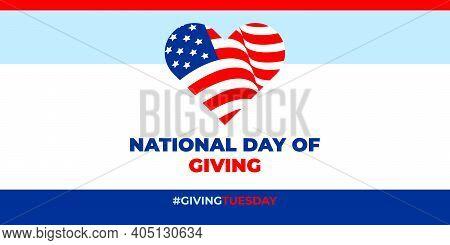 Giving Tuesday, National Day Of Giving. Vector Banner, Poster, Card For Social Media With The Text G