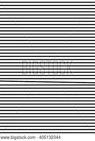 Abstract geometrical poster. Black horizontal lines on transparent background. Geometrical shapes - one is different from the rest. For cover, banner, card, booklet. Ideal funny gift for perfectionist.