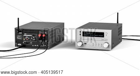 Hifi System  Isolated On White Background - 3d Render