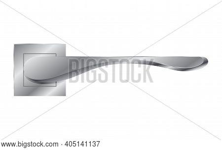 Metal Door Handle. Modern Lock Knob, Home Doorknob. Lock Doors At Home Or Metal Door-handle In House