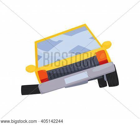Accident On Road Car Damaged. Road Accident Icon. Ar Crash Symbol. Damaged Vehicle Insurance. Damage
