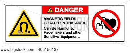 Danger Magnetic Fields Located In This Area Can Be Hamful To Pacemakers And Other Sensitive Equipmen