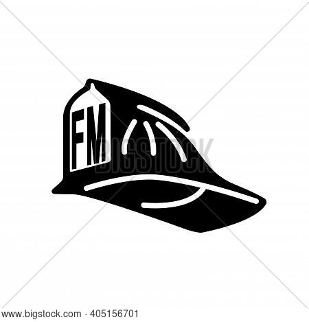 Fire Marshal Black Icon, Vector Illustration, Isolate On White Background Label. Eps10