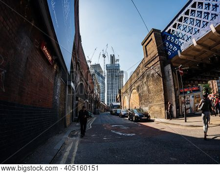 London, United Kingdom - May 19, 2018: Passengers Commuters At The Waterloo Station Commuting - Wide