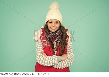 Stay Warm And Stylish. Cold Winter Days. Vacation Time. Stay Active During Season. Kid Wear Knitted