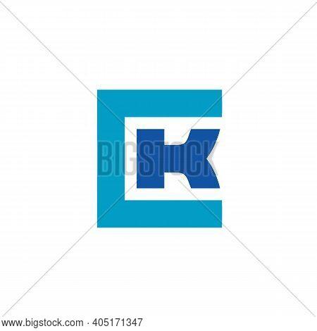 Inital Letter Ck Kc Logo Design Vector