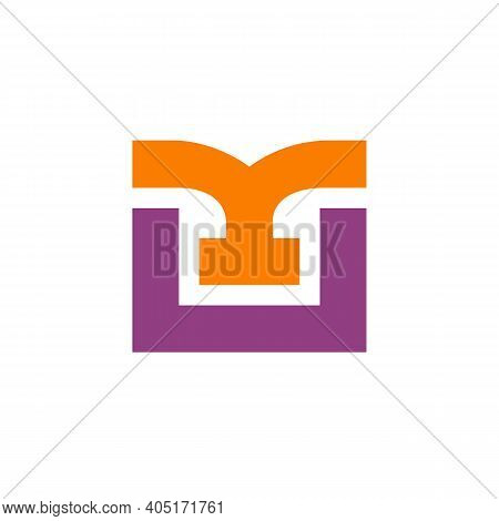 Abstract Letter U Or Mu Logo Icon Design Template Elements, Vector Illustration