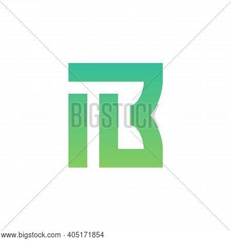 Abstract Letter Ib Or Bi Logo Concept, Minimal Monogram Design