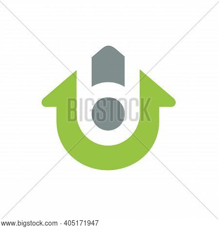 Letter Bd Or Db House Logo Icon, Home Symbol Design, Real Estate Business Concept