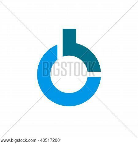 Initial Letter Cb Bc Ob Bo Logo Design, Vector Illustration