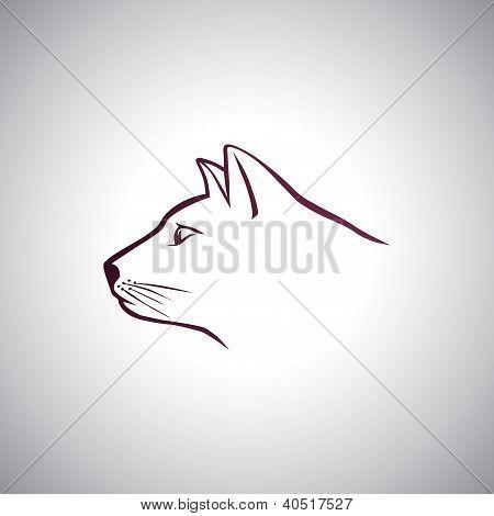 Cat head logo
