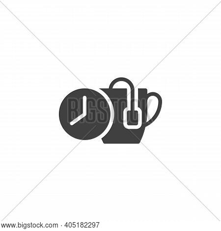 Tea Brewing Time Vector Icon. Filled Flat Sign For Mobile Concept And Web Design. Tea Brew Instructi