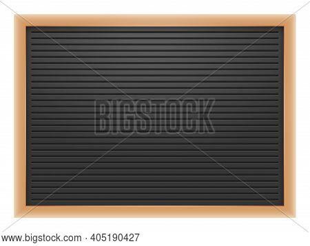 Letter Board Or Blackboard For Post Menu, Message Note, Wooden Board For Cafe Or Office. Vector Illu