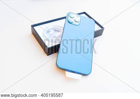Puerto Cruz, Spain - January 05, 2020: Box With Iphone 12 Pro With Apple Logo