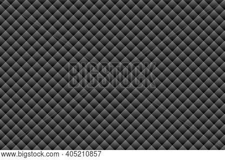 Black Geometric Shapes Background - Illustration,  Three Dimensional Mosaic Vector