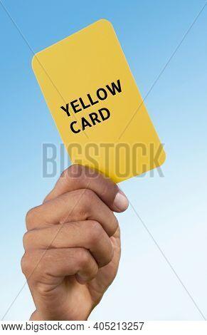 Close up shot of Referee Yellow Card