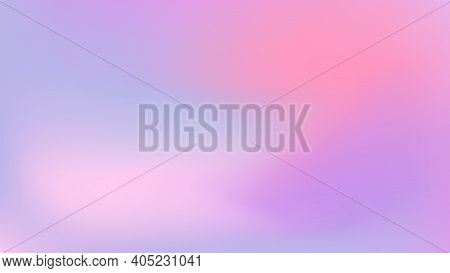 Abstract Color Vector Banner. Blurred Light Fresh Gradient Background. Pastel Pink, Blue, Lilac Smoo