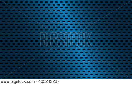 Dark Blue Metal Steel Background. Dark Blue Carbon Fiber Texture. Black Ellipse Textured Background.