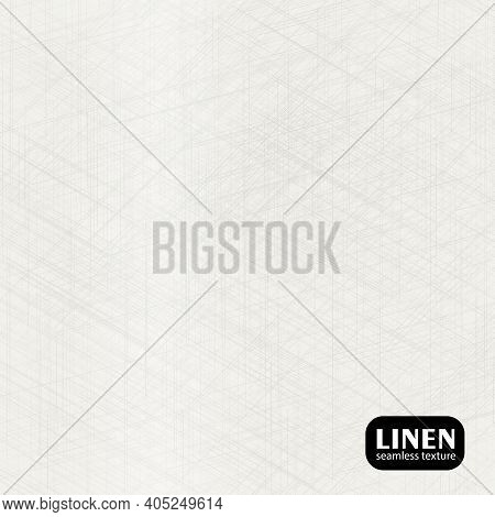 Abstract Seamless Pattern. Natural Cloth Texture. Grey Woven Linen Texture Background. Organic Fibre