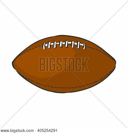 Rugby Vector Illustration. Rugby Ball, Vector Illustration