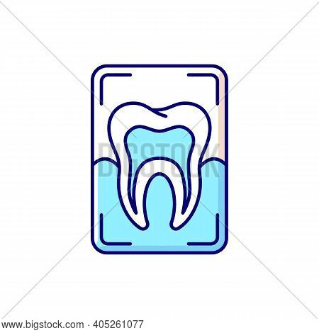 Dental X-ray Rgb Color Icon. Dental Care. Dentistry Radiography. Instruments For Dental Treatment. T