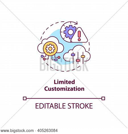 Limited Customization Concept Icon. Saas Challenge Idea Thin Line Illustration. Personalization And