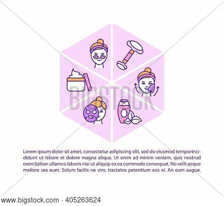 At Home Face Care Procedures Concept Icon With Text. Home Beauty Procedures. Skin Brightening. Ppt P
