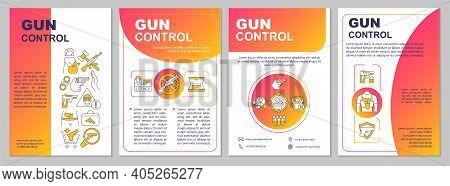 Firearms Regulation Brochure Template. Gun Safety Rules. Flyer, Booklet, Leaflet Print, Cover Design