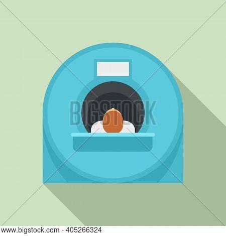 Man Resonance Imaging Diagnostic Icon. Flat Illustration Of Man Resonance Imaging Diagnostic Vector