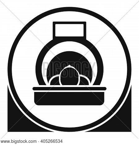 Man Resonance Imaging Diagnostic Icon. Simple Illustration Of Man Resonance Imaging Diagnostic Vecto