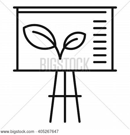 Eco Banner Lesson Icon. Outline Eco Banner Lesson Vector Icon For Web Design Isolated On White Backg
