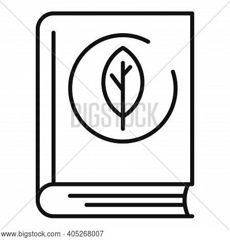 Ecologist Book Icon. Outline Ecologist Book Vector Icon For Web Design Isolated On White Background
